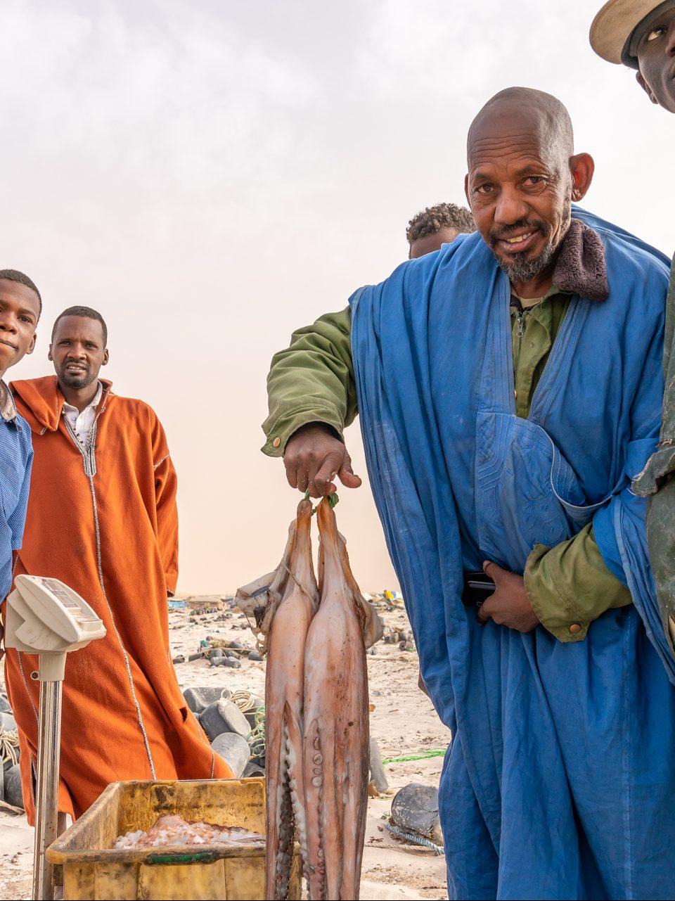 Fischer im Banq DArguin Nationalpark, Mauretanien