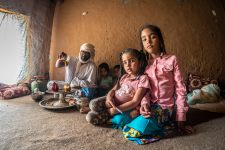 Mauretanische Familie beim Tee